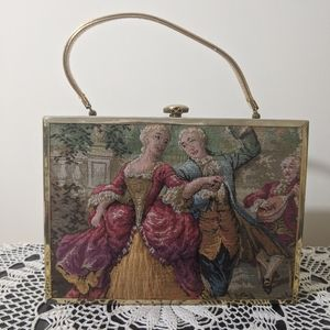 Vintage Handbag 50s Tapestry French Soire Purse